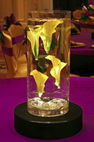 Lighted Vases With Floral