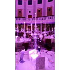 LIGHTED ACRYLIC CANDELABRA