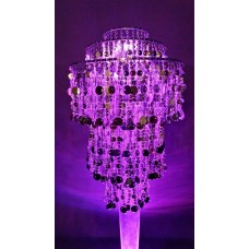LIGHTED ACRYLIC CHANDELIER - FROTH & BUBBLE