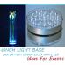 LED LIGHT BASE - CLEAR WHITE - 15CM DIAM
