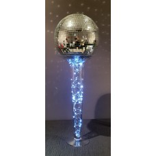 LIGHTED VASE WITH MIRROR BALL