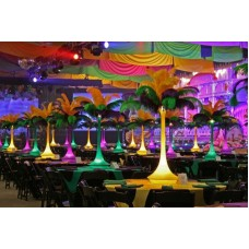 LIGHTED FEATHER STAND - MARDI GRAS